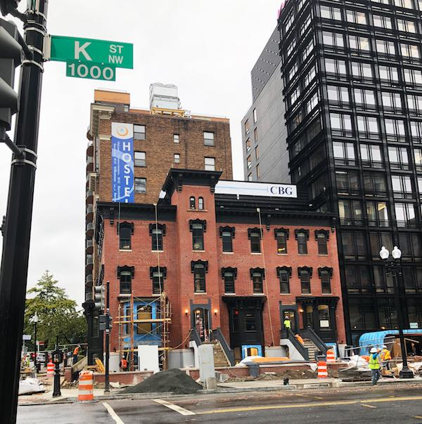 Moxy Hotel nearing completion - featuring INTUS Windows in the main building and in the neighboring restored historic building