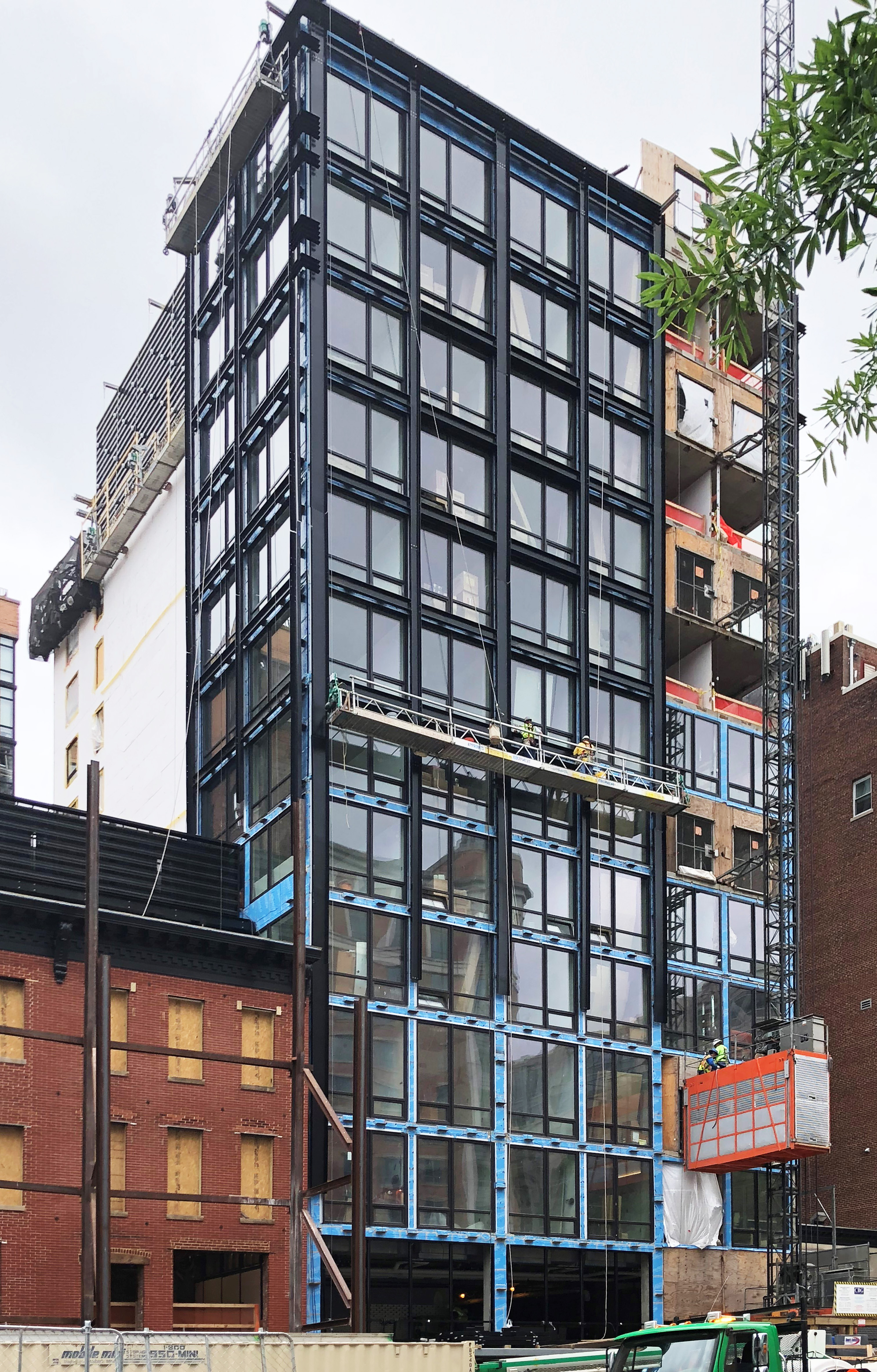 The Moxy Hotel by Marriott in-progress