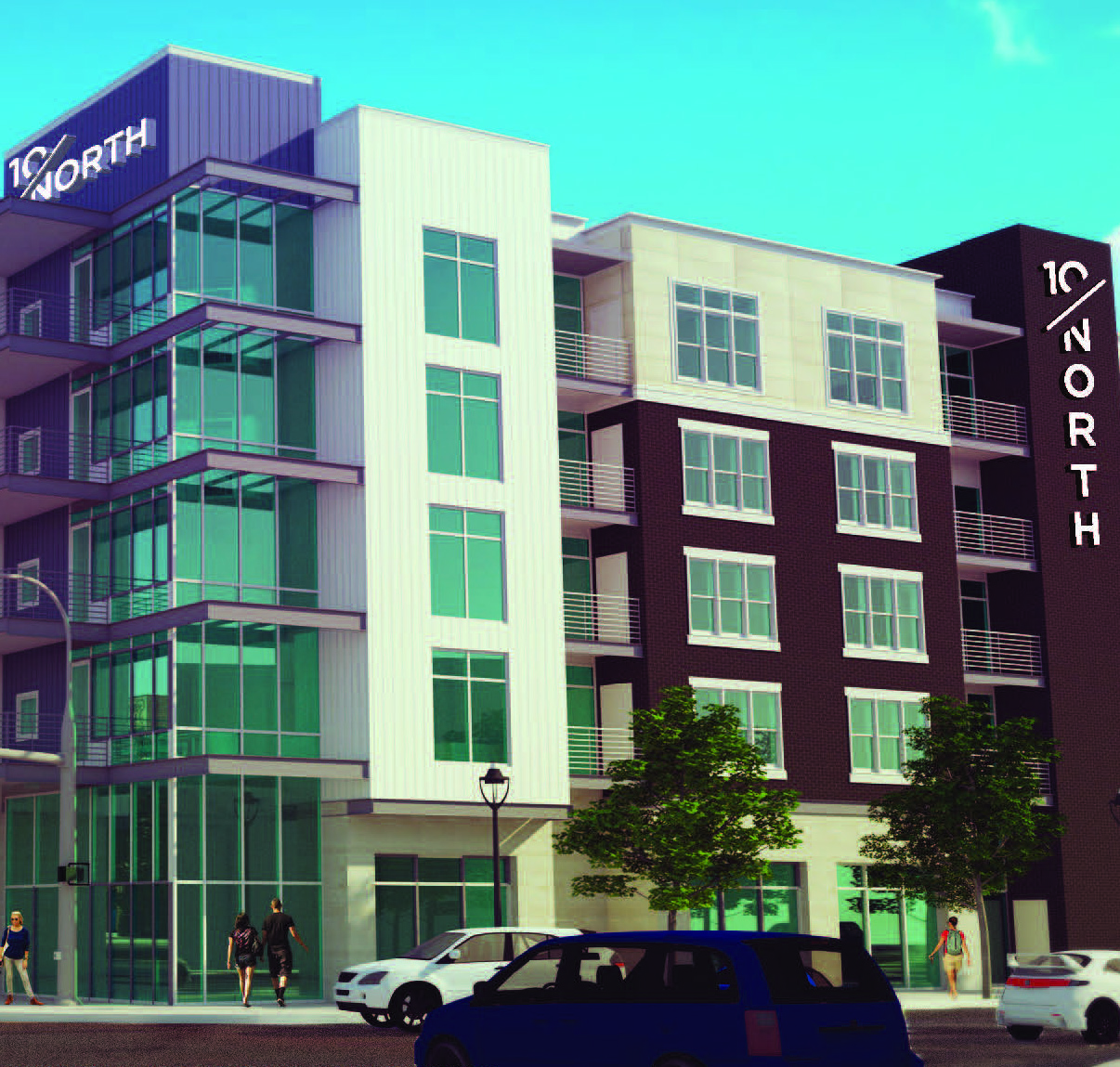 10/North Apartments rendering