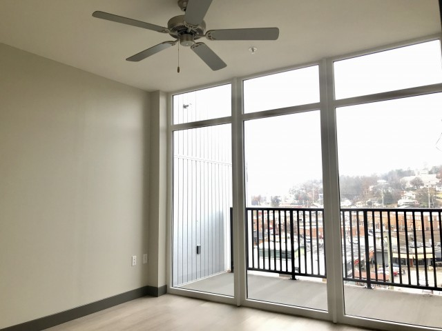 Fantastic views with floor to ceiling windows at the 10/North Apartments - featuring Arcade double pane steel reinforced polymer windows