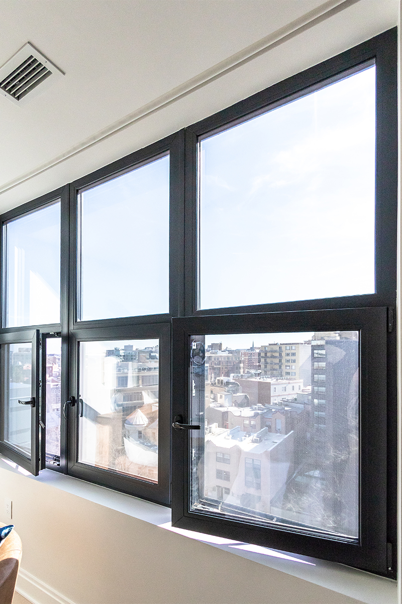 Elysium Logan with INTUS Arcade steel reinforced triple pane polymer windows & window walls