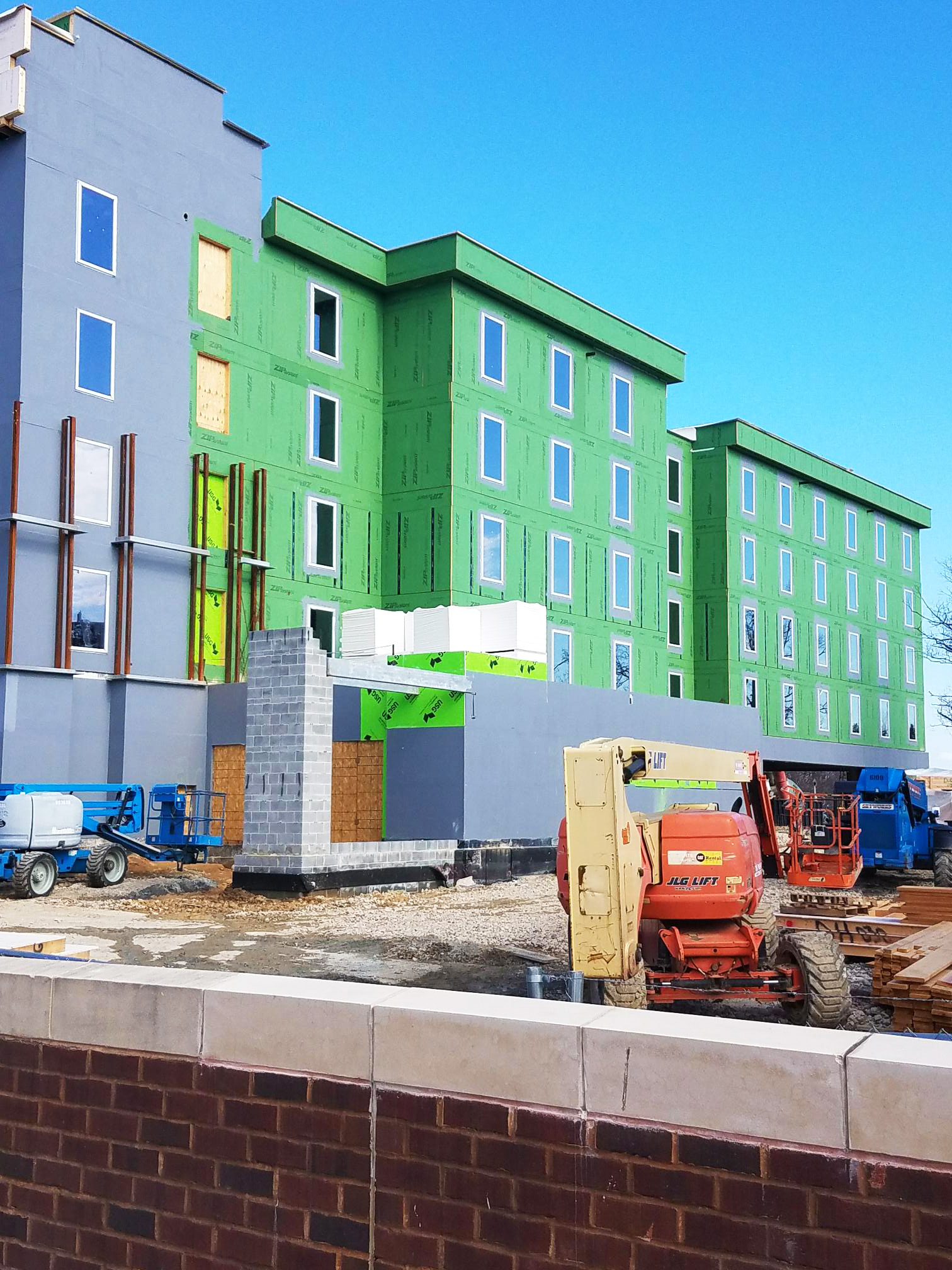 INTUS Windows being installed at Home2 Suites in Silver Spring, MD