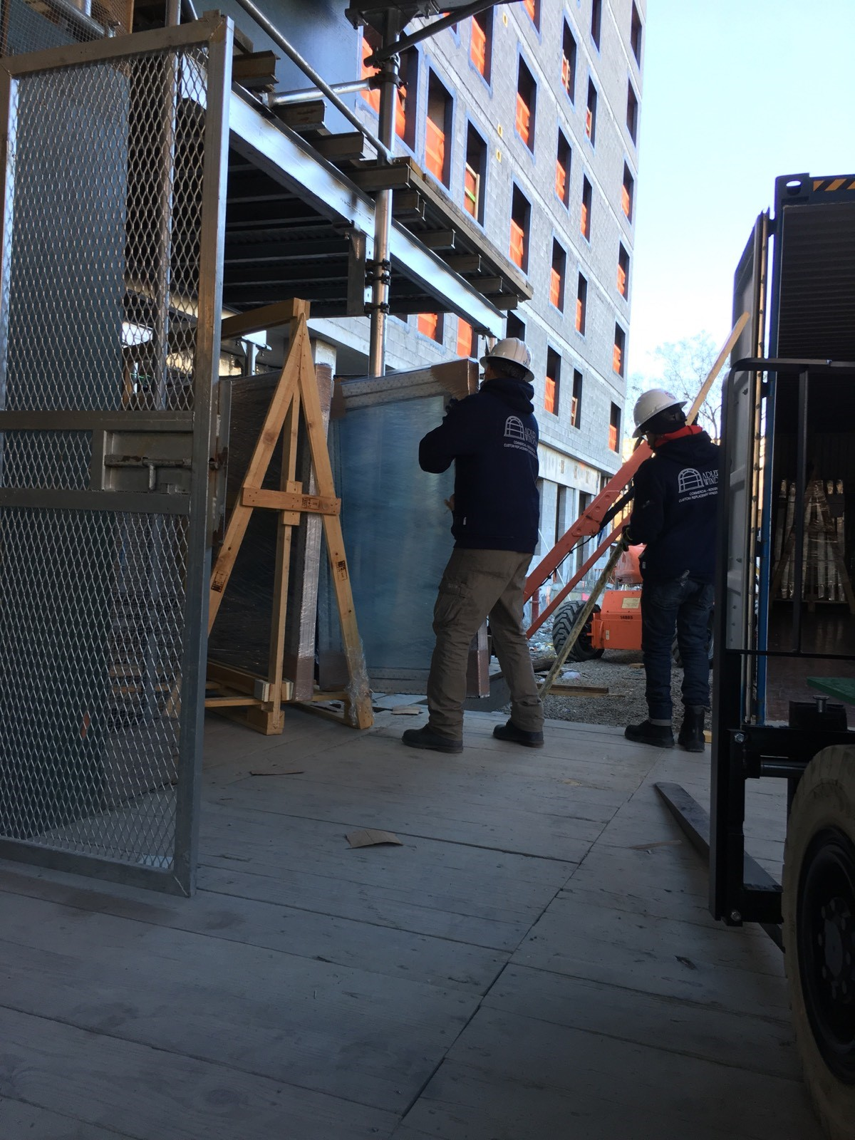 INTUS Windows being delivered to Morris II Apartments