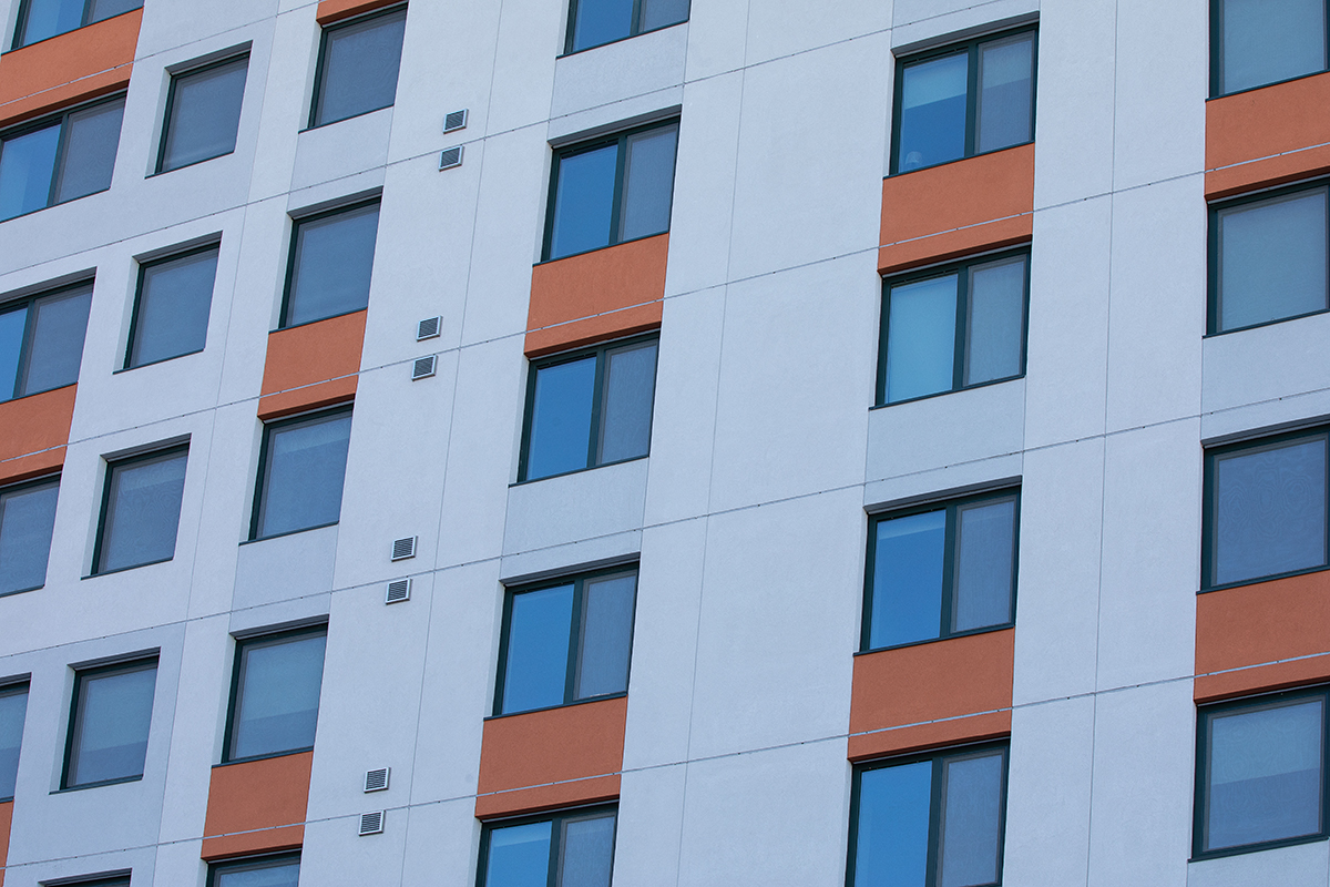 Morris Avenue Apartments with INTUS Eforte triple pane steel reinforced polymer windows