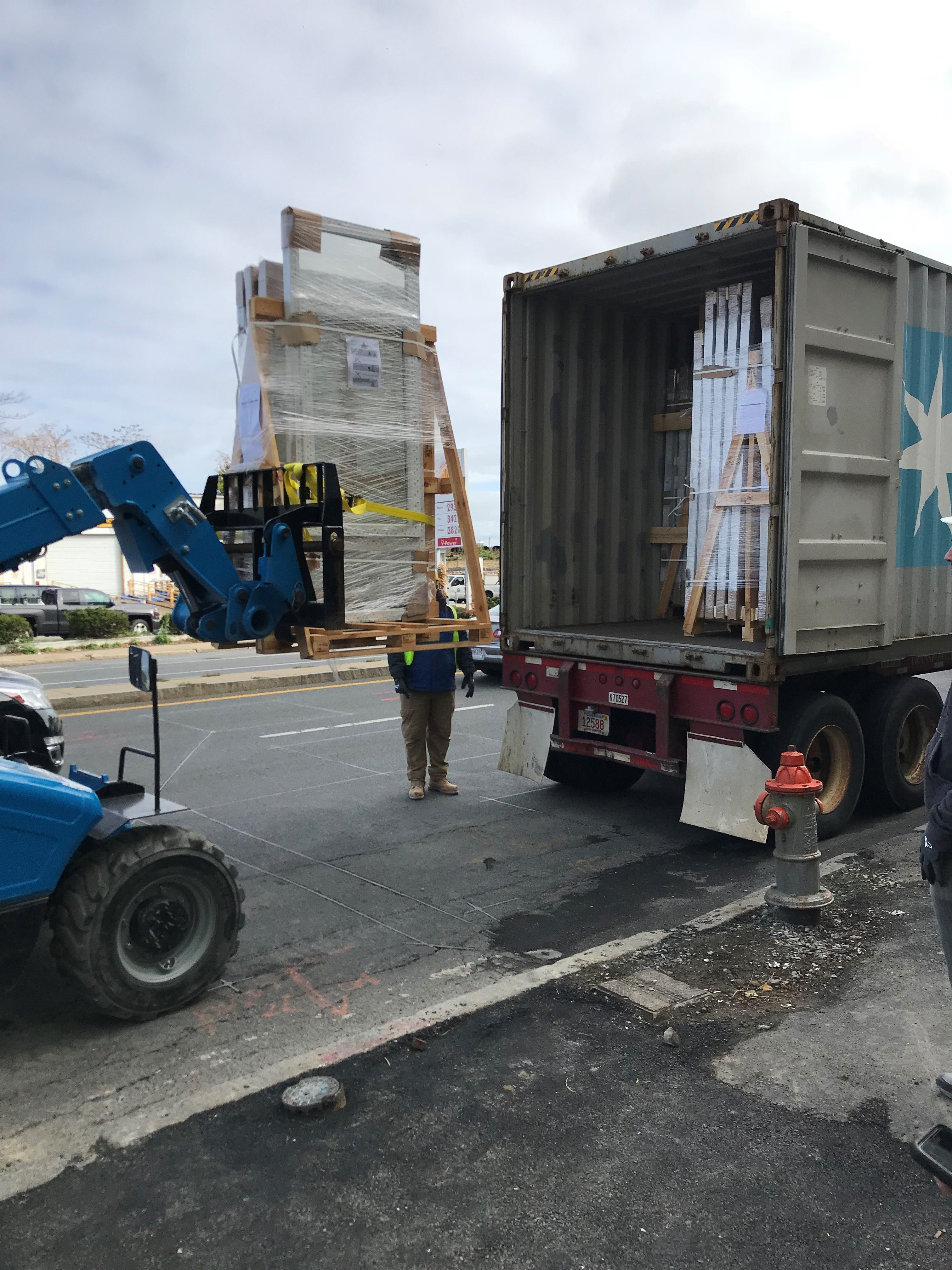 INTUS Windows arriving safe and sound to the site of Point 262 Condominiums!