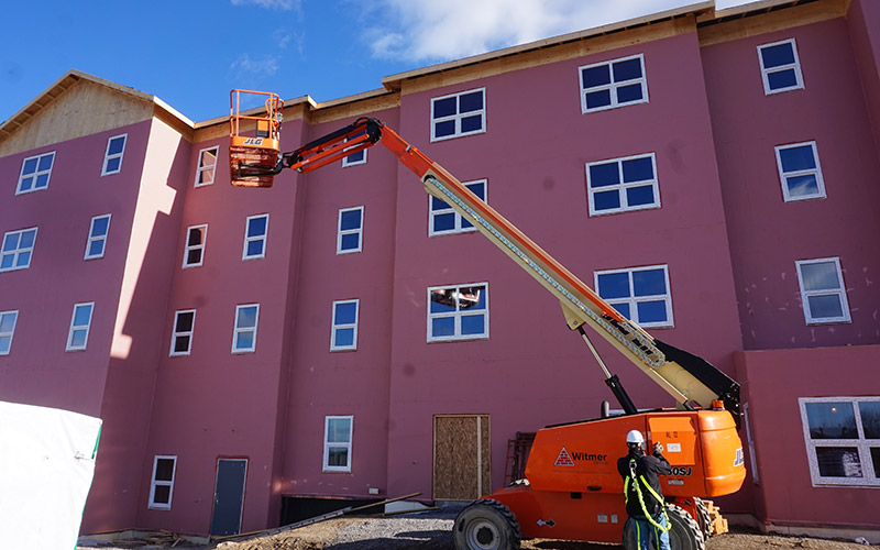 Westminster Place at Windy Hill in-progress with INTUS Windows