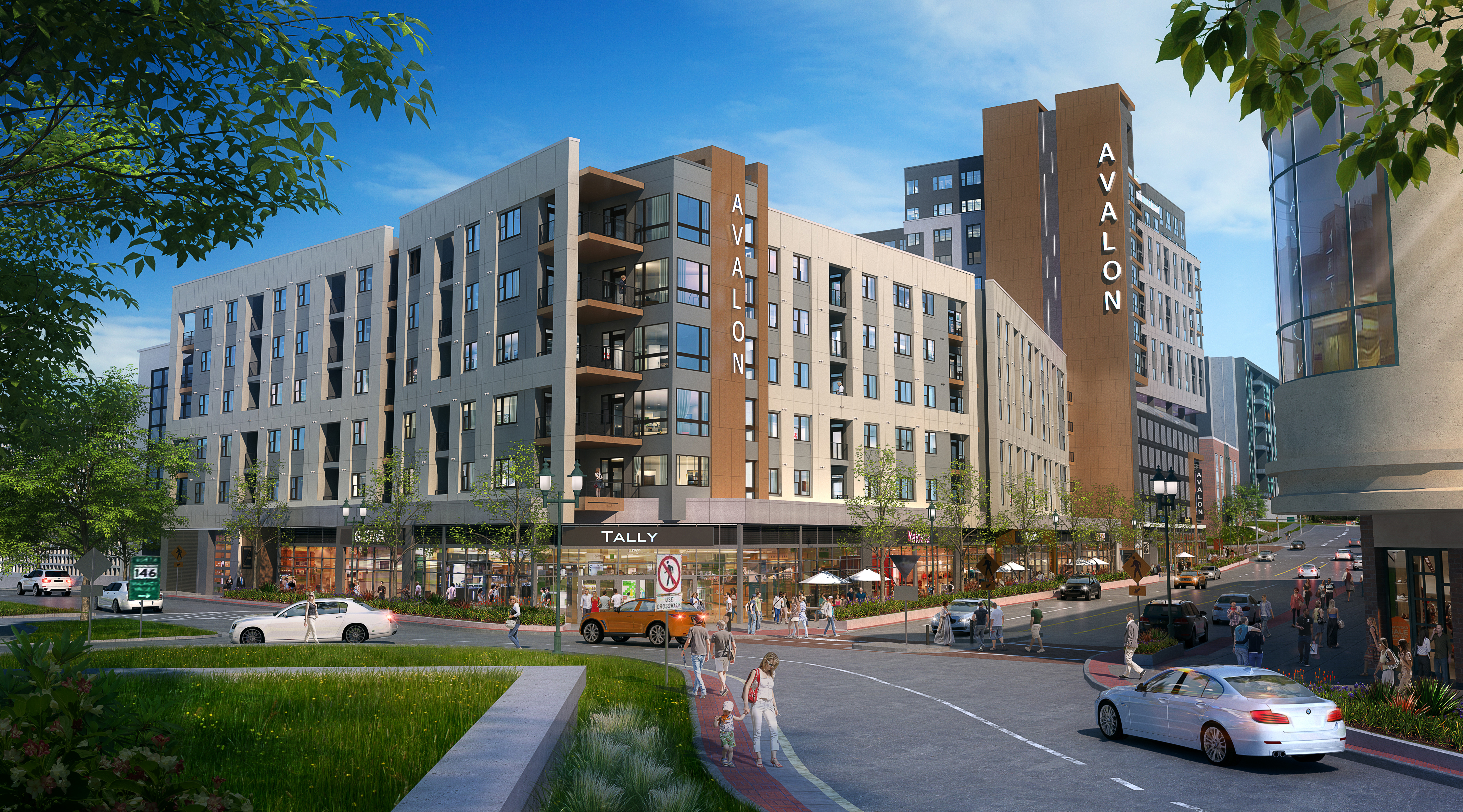 Avalon Towson Circle - East View - architectural rendering