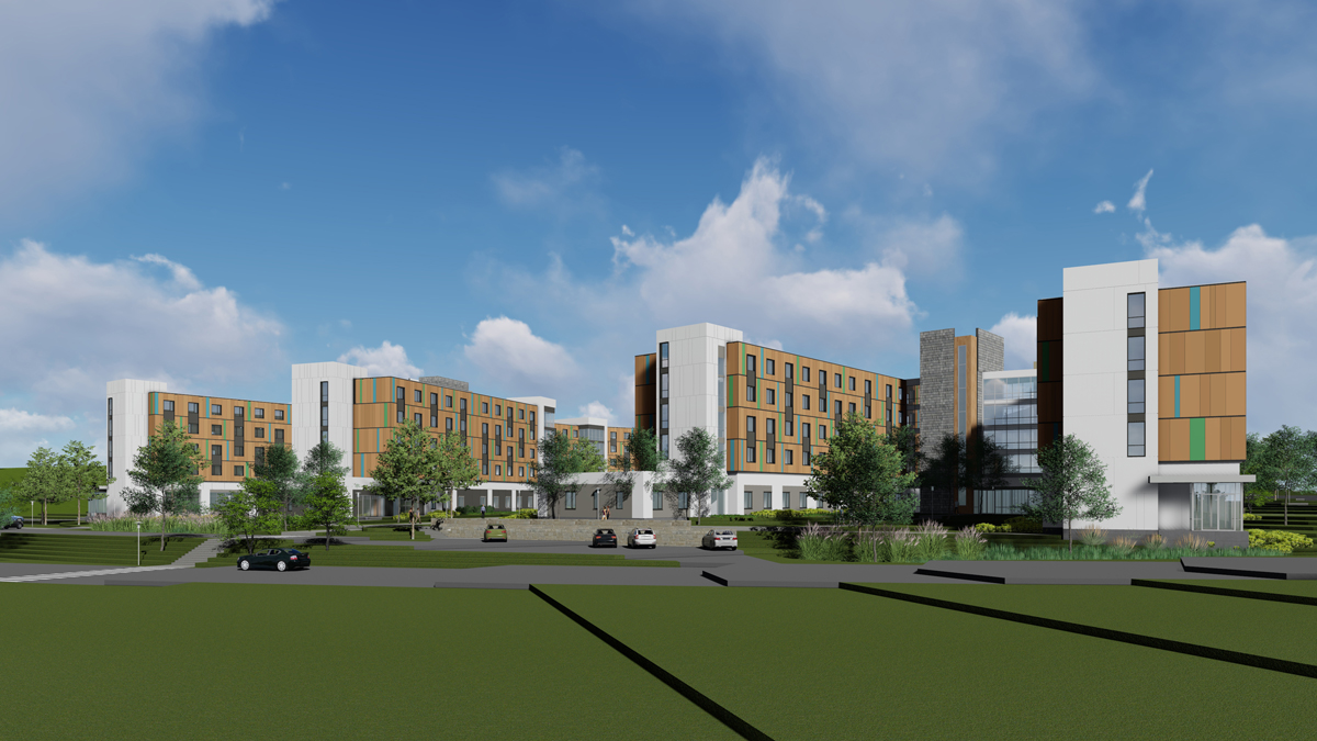 UMass Dartmouth Residence Hall rendering
